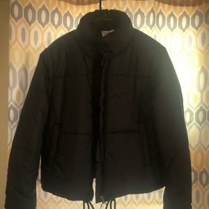 New, never worn black coat
